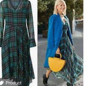 Zara plaid dress flash sale price firm